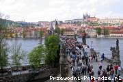Widok z wieży Staromiejskiej Mostu Karola