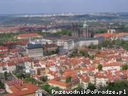 Widok z praskiego wzgórza Petřínie